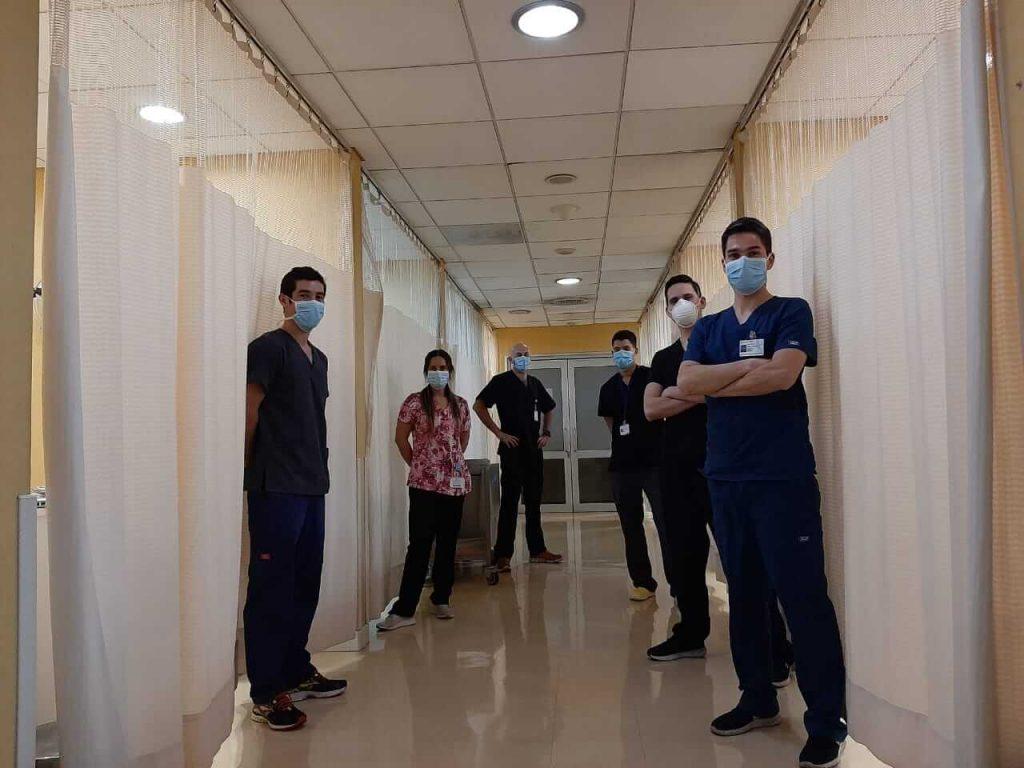 Kinesiologos en Hospital Militar