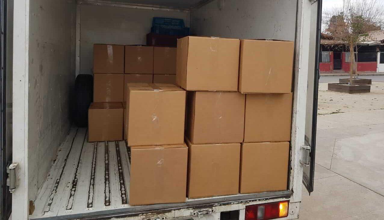 Cajas de alimentos - donación
